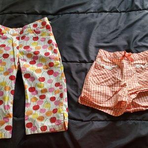 girl size 5 Gymboree pants & short